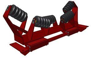 Conveyor Systems - Idler Frame - Heavy Duty - Torsion Frames - Impact Trough Frame - 5 Roll
