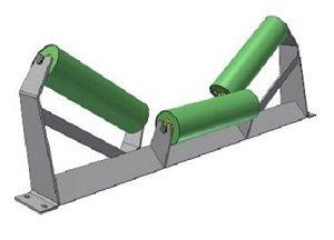 Conveyor Systems - Idler Frame - Heavy Duty - Trough Frame - 3 Roll