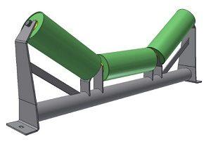 Conveyor Systems - Idler Frame - Inline Frames - Tubular - 3 Roll