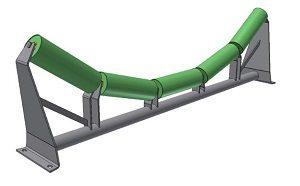 Conveyor Systems - Idler Frame - Inline Frames - Tubular - 5 Roll