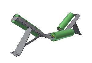 Conveyor Systems - Idler Frame - Trough Frames - Angle Iron - 3 Roll