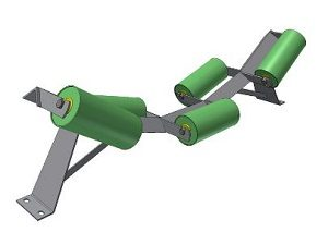 Conveyor Systems - Idler Frame - Trough Frames - Angle Iron - 5 Roll