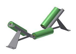 Conveyor Systems - Idler Frame - Trough Frames - Tubular - 3 Roll
