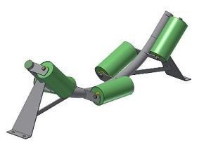 Conveyor Systems - Idler Frame - Trough Frames - Tubular - 5 Roll