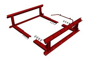 Conveyor Systems - Impact Station - 6 Alignments - Slit Base